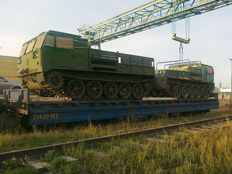 ЖД перевозка военной техники